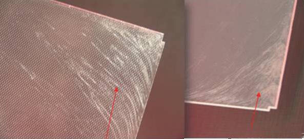玻纤便会摆脱树脂基体的束缚,逐渐向表面积累而外露